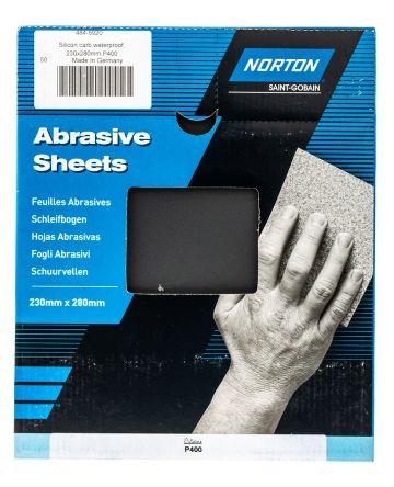 Norton 400 Very Fine Silicon Carbide Abrasive Sheet, 280 x 230mm