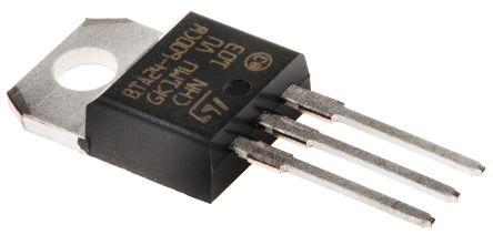 BTA24-600CWRG 25A, 600V, TRIAC, Gate Trigger 1.3V 35mA, 3-pin, Through Hole, TO-220AB STMicroelectronics