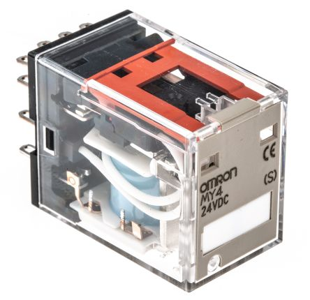 My4 24dc S 4pdt Standard Relay W O Led 5a 24vdc Omron