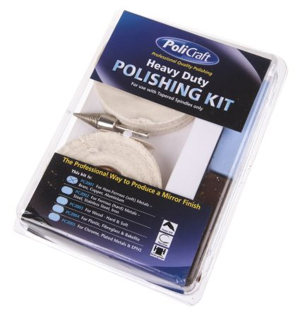 RS PRO 120g Polishing Kit Containing Cotton Mop, Lustre, Rouge, White Stitched Mop