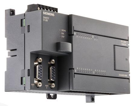 Siemens S7-200 PLC CPU Computer, SIMATIC PG/PC Interface, 16 kB Program  Capacity, 16 (14 Digital, 2 Analogue) Inputs