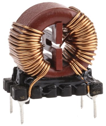 Wurth 5 mH ±30% Leaded Inductor, 6A Idc, 45mΩ Rdc WE-CMB