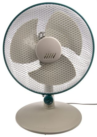 RS PRO Desk Fan 300mm blade diameter 3 speed 230 V with plug: Type G - British 3-pin