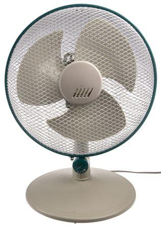 RS PRO Desk Fan 300mm blade diameter 3 speed 230 V ac with plug: Type G - British 3-pin