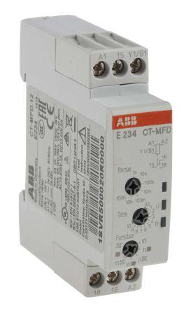 ABB Multi Function Timer Relay Screw 005 s 100 h SPDT 1