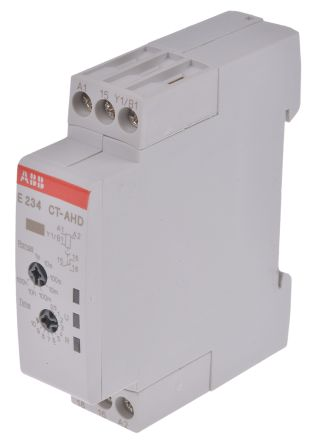 ABB OFF Delay Single Timer Relay, Screw, 0.05 s → 100 h, SPDT, 1 Contacts, SPDT