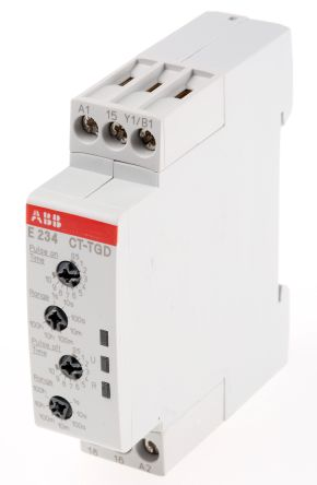 ABB Pulse Generator Single Timer Relay, Screw, 0.05 s → 100 h, SPDT, 1 Contacts, SPDT