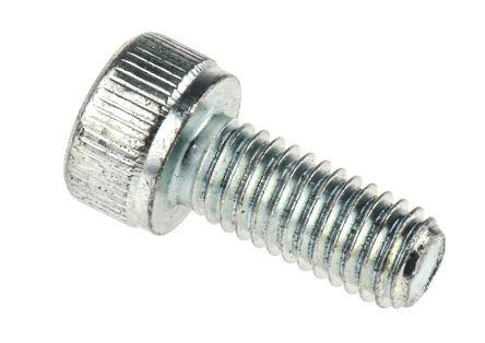 RS PRO M5 x 12mm Hex Socket Cap Screw Bright Zinc Plated Steel