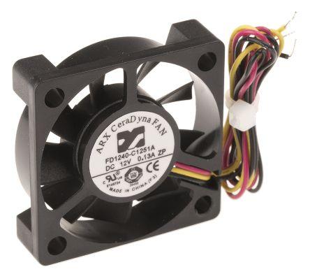 ARX Axial Fan, 40 x 40 x 10mm, 12.24m³/h, 1.2W, 12 V dc (CeraDyna Series)