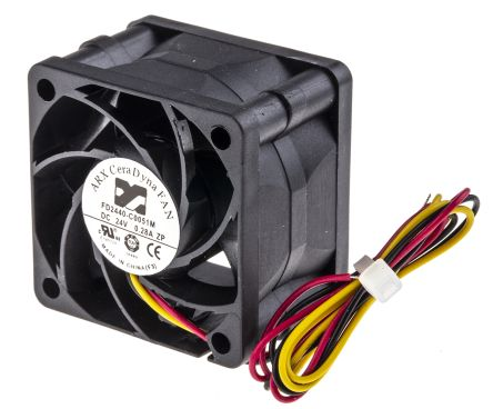 ARX Axial Fan, 40 x 40 x 28mm, 28.3m³/h, 5.76W, 24 V dc (CeraDyna Series)