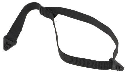 3M PELTOR Elastic, Plastic, Ribbon Black Chin Strap