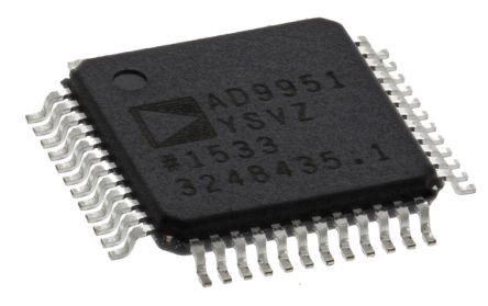 AD9951YSVZ, Direct Digital Synthesizer 14 bit-Bit 400000ksps, 48-Pin TQFP