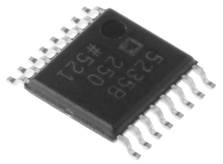 AD5235BRUZ250, Digital Potentiometer 250kΩ 1024-Position Linear, Log 2-channel Serial-2 Wire, Serial-I2C 16-Pin TSSOP