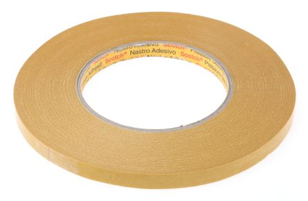 9084 Beige Double Sided Paper Tape, 9mm x 50m, 0.1mm Thick product photo
