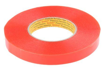 3M 9088FL Transparent Double Sided Plastic Tape, 19mm x 50m