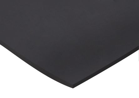 Rs Pro Black Rubber Sheet 1m X 600mm X 6mm Rs Components