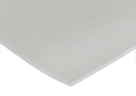 White Silicone Rubber Sheet, 600mm x 600mm x 3mm