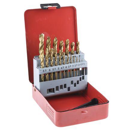 RS PRO HSS 1mm to 10mm, 19 piece Jobber Drill Set