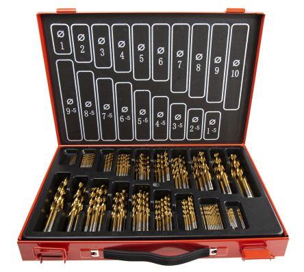 RS PRO 170 piece Metal Twist Drill Bit Set, 1mm to 10mm