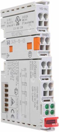 Wago I/O SYSTEM 750 PLC I/O Module 4 Outputs 24 V dc, 100 x 12 x 64 mm