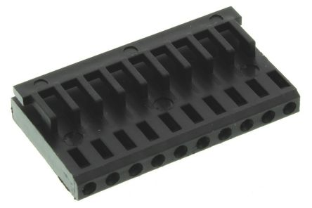 TE Connectivity AMPMODU MOD IV Female Connector Housing, 2.54mm Pitch, 10 Way, 1 Row