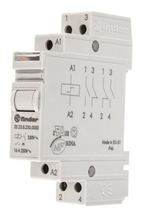 20 23 8 230 0000 dpst din rail latching relay 16 a 230v ac rs rh uk rs online com Idec DIN Rail Mounted Relays Idec DIN Rail Mounted Relays