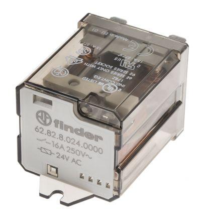 Finder SPDT Non-Latching Relay Flange Mount 24V dc Coil 20 A