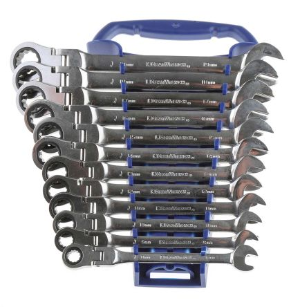 Metric Ratchet Spanner Set Combination Head Gear Wrench Tool Sets