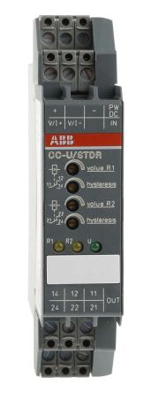 ABB Analogue to Relay Signal Conditioner, 0 → 10 V dc, 0 → 20 mA Input
