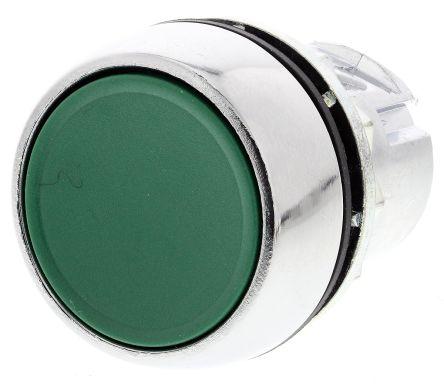 Allen Bradley 800F Series, Green Push Button Head, Momentary, 22 5mm Cutout