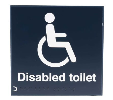 RS PRO Tactile Sign: Disability Access None. None Text, Self-Adhesive Plastic, 150 x 150mm