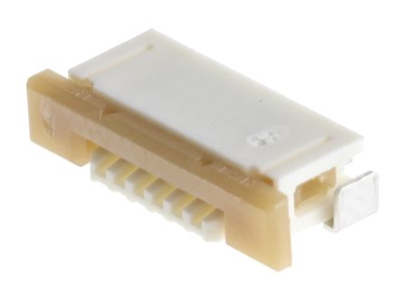 Molex Easy On 52271 Series 1mm Pitch 6 Way Right Angle SMT Female FPC Connector, ZIF Bottom Contact