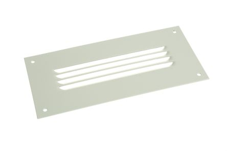 Grey Steel Vent Grille, 100 x 210mm