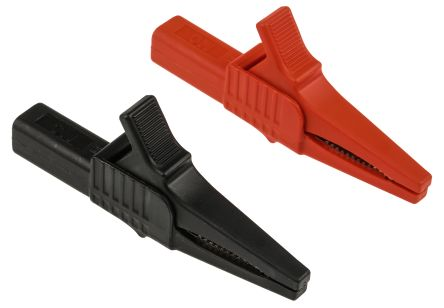 Alligator//Crocodile Clip 550 mm Test Leads Set de 10 couleur conduit 25 mm clips