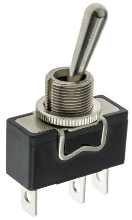 APEM Single Pole Double Throw (SPDT) Toggle Switch, On-Off-On, Panel Mount