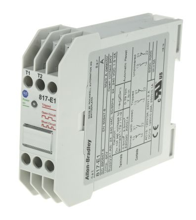 Allen dley Temperature Monitoring Relay With DPST Contacts, 24 → on