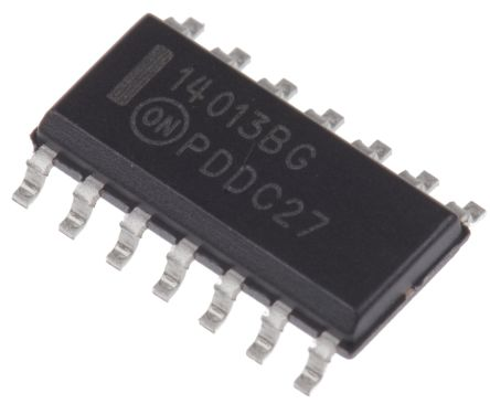 ON Semiconductor MC14013BDG Dual D Type Flip Flop IC, 14-Pin SOIC