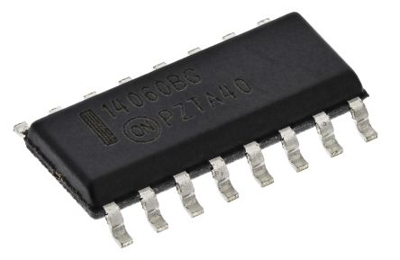ON Semiconductor MC14060BDG 14-stage Binary Counter, Up Counter, , Uni-Directional, 16-Pin SOIC