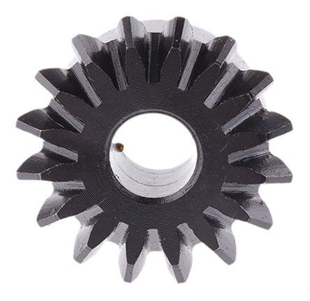 Gear,mitre,steel,1 5 module,16 teeth