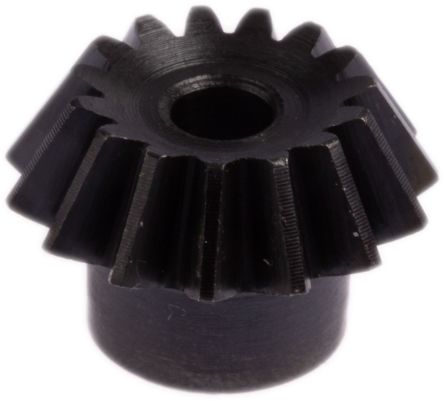 RS PRO Steel 15 Teeth Bevel Gear, 45° Pitch , 20° Angle , 6mm Bore