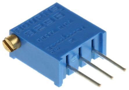 50kΩ Through Hole Trimmer Potentiometer 0 5W Side Adjust Bourns 3296 Series