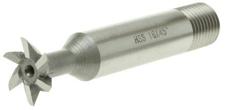 RS PRO 60 mm HSS Standard Dovetail Cutter 45° 16mm Diameter
