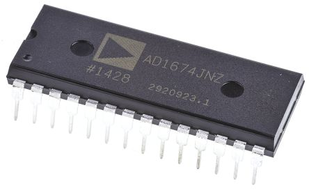 Analog Devices AD1674JNZ, 12-bit Parallel ADC, 28-Pin PDIP