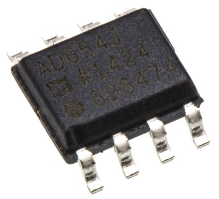 AD654JRZ, Voltage to Frequency Converter, Non-Synchronous, 500kHz ±0.4%FSR, 8-Pin SOIC