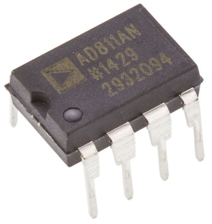 Analog Devices AD811ANZ, Video Amp 2500V/μs, 8-Pin PDIP