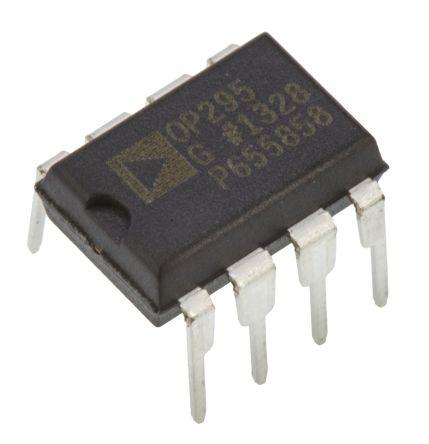 Analog Devices OP295GPZ, Dual Op Amp, RRO, 75kHz, 5 → 28 V, 8-Pin PDIP