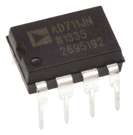 Analog Devices AD711JNZ, Op Amp, 3MHz, 8-Pin PDIP