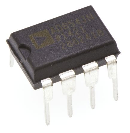 AD654JNZ, Voltage to Frequency Converter, Non-Synchronous, 500kHz ±0.4%FSR, 8-Pin PDIP