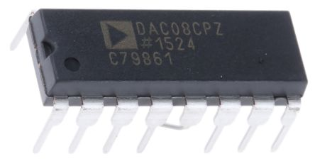 Analog Devices DAC08CPZ, 8 bit Parallel DAC, 11.8Msps, 16-Pin PDIP