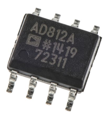Analog Devices AD812ARZ, Video Amp 2-channel 125V/μs, 8-Pin SOIC